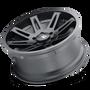 ION 142 Matte Black 20x9 6x139.7 25mm 106mm - tilted wheel view