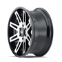 ION 142 Black w/ Machined Face 20x9 8x165.1 18mm 130.8mm - side wheel view