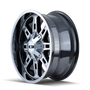 ION 184 PVD2 Chrome 18x9 8x165.1/8x170 0mm 130.8mm - wheel side view