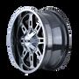 ION 184 PVD2 Chrome 20x9 8x180 18mm 124.1mm - wheel side view