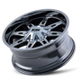 ION 184 PVD2 Chrome 20x9 8x180 18mm 124.1mm - wheel tilted view