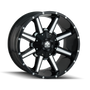Mayhem Arsenal Gloss Black/Machined Face 18X9 8x180 18mm 124.1mm