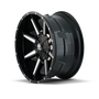 Mayhem Arsenal Gloss Black/Machined Face 18X9 8x180 18mm 124.1mm - wheel side view