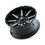 Mayhem Arsenal Gloss Black/Machined Face 18X9 8x180 18mm 124.1mm - wheel tilted view