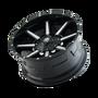 Mayhem Arsenal Gloss Black/Machined Face 18X9 5x150/5x139.7 -12mm 110mm - wheel tilted view
