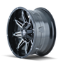 Mayhem Rampage 8090 Black/Milled Spokes 17x9 5x127/5x139.7 -12mm 87mm - wheel side view