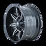 Mayhem Rampage 8090 Black/Milled Spokes 18x9 8x180 -12mm 124.1mm - wheel side view