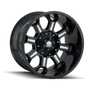Mayhem Combat Gloss Black/Milled Spokes 18x9 8x180 18mm 124.1mm