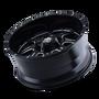 Mayhem 8100 Monstir Gloss Black/Milled Spokes 17X9 5x127/5x139.7 -12mm 87mm - wheel tilted view