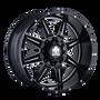 Mayhem 8100 Monstir Gloss Black/Milled Spokes 17X9 5x127/5x139.7 18mm 87mm
