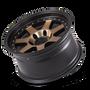Mayhem Prodigy 8300 Matte Black w/ Bronze Tint 17x9 5x127 -6mm 78.1mm - wheel tilted view