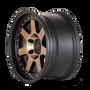 Mayhem Prodigy 8300 Matte Black w/ Bronze Tint 18x9 8x165.1 0mm 130.8mm - wheel side view