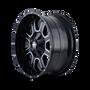 Mayhem Fierce 8103 Gloss Black/Milled Spokes 17X9 8x165.1/8x170 18mm 130.8mm - wheel side view
