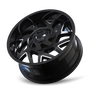 Mayhem Hatchet 8106 Black/Milled Spokes 20x9 5x135/5x139.7 0mm 87.1mm - wheel tilted view
