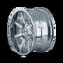 Mayhem Arsenal 8104 Chrome 17X9 6x120/6x139.7 18mm 78.10mm - wheel side view
