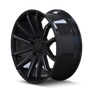 Mayhem Crossfire 8109 Gloss Black/Milled Spokes 20x9.5 5-150 25mm 110mm - wheel side view