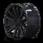 Mayhem Crossfire 8109 Gloss Black/Milled Spokes 20x9.5 5x139.7 18mm 108mm- wheel side view