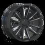 Mayhem Crossfire 8109 Gloss Black/Milled Spokes 20x9.5 5x139.7 25mm 108mm