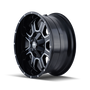 Mayhem Fierce 8103 Gloss Black/Milled Spokes 20X10 6x135/6x139.7 -19mm 108mm - wheel side view