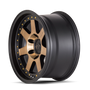 Mayhem Prodigy 8300 Matte Black w/ Bronze Tint 20x9 5x150 0mm 110mm - wheel side view