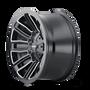 Mayhem Decoy Gloss Black w/ Milled Spokes 20x9 8x165.1/8x170 0mm 130.8mm - wheel side view