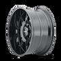 Mayhem Tripwire Gloss Black w/ Milled Spokes 20x9 5x150 0mm 110mm - wheel side view