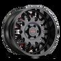 Mayhem Tripwire Black w/ Prism Red 20x9 6x135 18mm 87.1mm