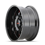 Mayhem Tripwire Black w/ Prism Red 20x10 8x165.1 -19mm 130.8mm - wheel side view