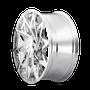 Mazzi 372 Big Easy Chrome 20x8.5 5x110/5x115 35mm 72.6mm - wheel side view