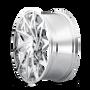 Mazzi 372 Big Easy Chrome 20x8.5 5x108/5x114.3 35mm 72.6mm - wheel side view