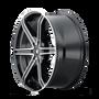 Mazzi 371 Stilts Black w/ Machined Face 20x8.5 5x114.3/5x127 35mm 72.6mm - wheel side view