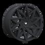 Mazzi 372 Matte Black 18x8 5x108/5x114.3 35mm 72.6mm