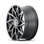 Mazzi 372 Matte Black w/ Dark Tint 20x8.5 5x110/5x115 35mm 72.6mm - wheel side view