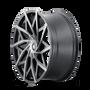 Mazzi 372 Matte Black w/ Dark Tint 20x8.5 5x115/5x120 18mm 74.1mm- wheel side view