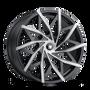Mazzi 372 Matte Black w/ Dark Tint 24x9.5 5x115/5x120 18mm 74.1mm