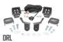 Honda Dual LED Cube Kit (16-20 Pioneer) - Black Series w/ White DRL