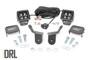 Honda Dual LED Cube Kit (16-20 Pioneer) - Black Series w/ Amber DRL