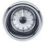 "2-1/16"" Round Universal VHX Clock - Silver Alloy Background"