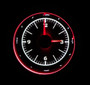 """2-1/16"""" Round Universal VHX Clock- White Night View"""