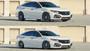 2017-2021 Honda Civic Si Air Lift Strut Kit w/ Manual Air Management up and down view