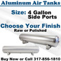 4 Gallon Aluminum Air Tank - Raw or Polished