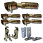 Complete Suicide Door Hinge Kit w/Lg. Bear Claw Latches & Install Kit