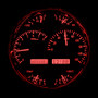 Universal Single 7 Inch Round Analog VHX Instruments Red Night View