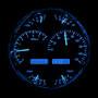 Universal Single 7 Inch Round Analog VHX Instruments Blue Night View