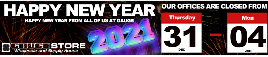 Gauge Holiday Hours for New years 2020