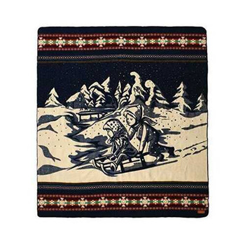 Queen Size Ultra Soft Young Sledders Handmade Woven Blanket