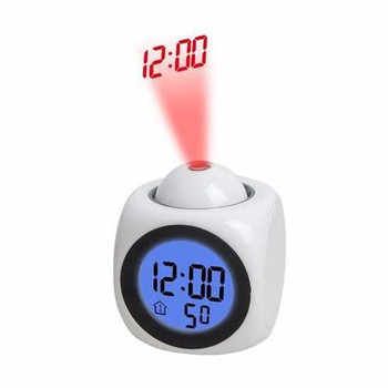 Digital LED Projection Alarm Clock With Voice Temperature F/C Switching