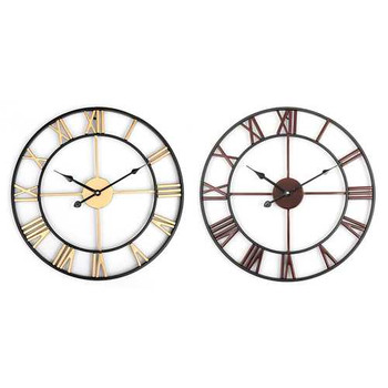 45cm Large Wall Clock Big Roman Numerals Giant Open Face Metal For Home Outdoor Garden