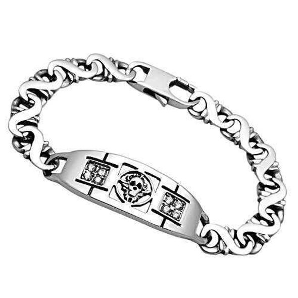 TK574 - Stainless Steel Bracelet High polished (no plating) Men AAA Grade CZ Clear