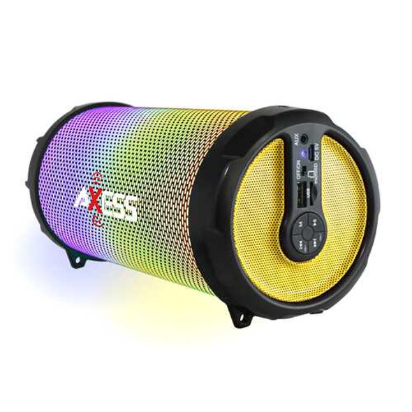Axess LED Bluetooth Media Speaker In Yellow